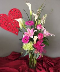 Pink Passion for Valentine's Day from FlowerCraft in Atlanta, GA