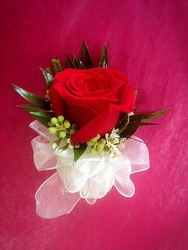 Single Red Rose Corsage from FlowerCraft in Atlanta, GA