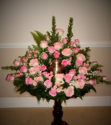 Pink Rose Urn Adornment from FlowerCraft in Atlanta, GA
