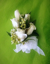 White Sweetheart Rose Corsage from FlowerCraft in Atlanta, GA
